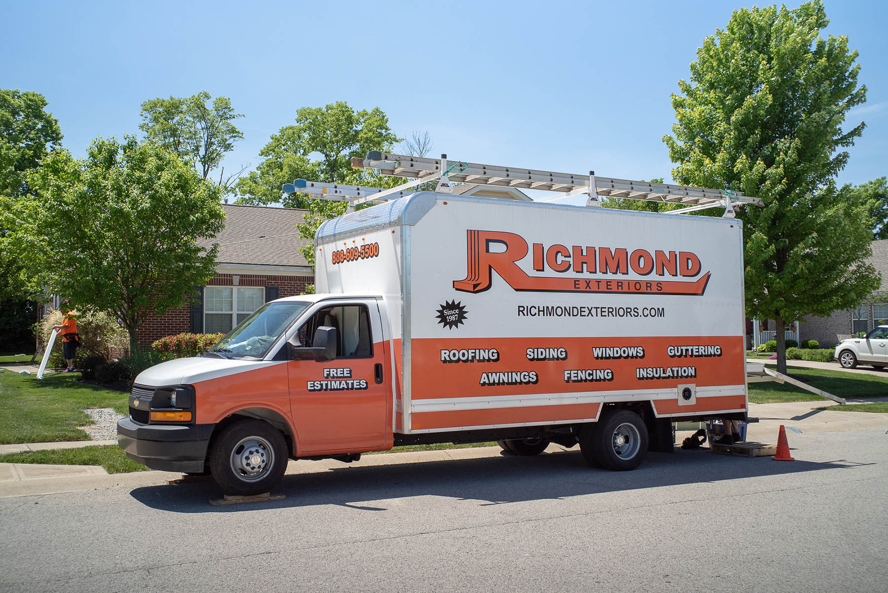 Richmond Exteriors truck for exterior remodeling