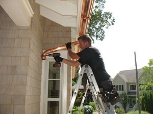 copper gutter install Indianapolis - Richmond Exteriors
